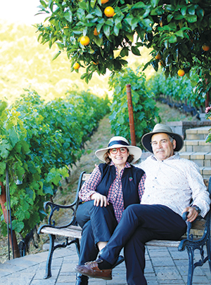 Susan and Sal Captain follow environmentally conscious growing practices at their home vineyard property in Moraga.