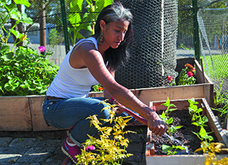tephanie Essig established a produce garden at the Community Day School in Oakland.