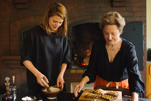 Alice Waters and Fanny Singer Photo by Eric Wolfinger