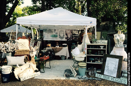 Seek out vintage treasures and enjoy a gourmet picnic at Soul Food Farm's annual marketplace.