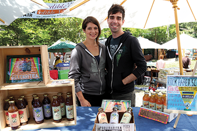 Iced tea wizards Caroline Sandifer and Trey Jalbert recently launched SolidariTea: Strong Tea for a Strong Community. They plan to share their fruit and spice teas with fellow Bay Bucks businesses and to tap other members for marketing and website help.