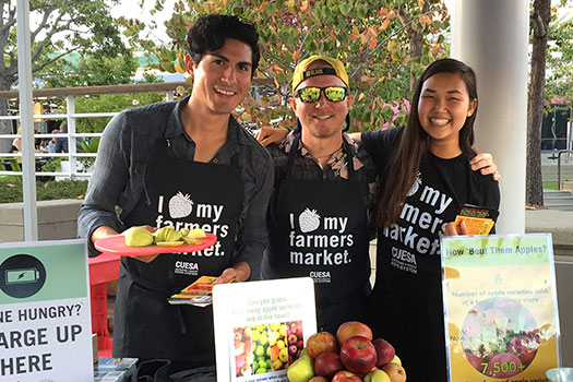 Support the farmers' market at Jack London Square by becoming a CUESA volunteer.