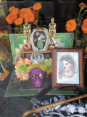 A Day of the Dead Charlie Chaplin altar (Photo by Christy White