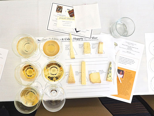 Cheese and cider pairing is a popular festival event, and farm tours are always a favorite.