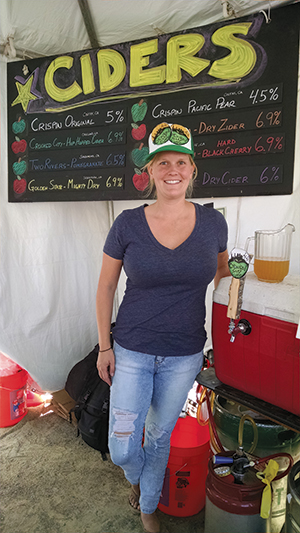 Upper: Entrepreneur Dana Bushouse, pictured at the 2015 Eat Real Festival, launched Crooked City Cider with help from Oakland's Food Craft Institute. Lower: In Coffee Roasting & Retail, FCI students learn hands-on techniques and business savvy from coffee sector leaders and innovators.