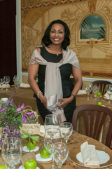 Dr. Menbe Aklilu at Salute e Vita Ristorante (Photo courtesy of the restaurant)