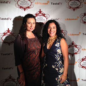 Esperanza Pallana, executive director of the Oakland Food Policy Council (at right), and media specialist Haven Bourque at the Taste Awards. Photo courtesy of Haven Bourque.