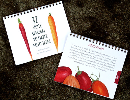 Try out a new vegetarian dish each month with help from Helen Krayenhoff's artistic recipe book. Photos courtesy of Helen Krayenhoff.