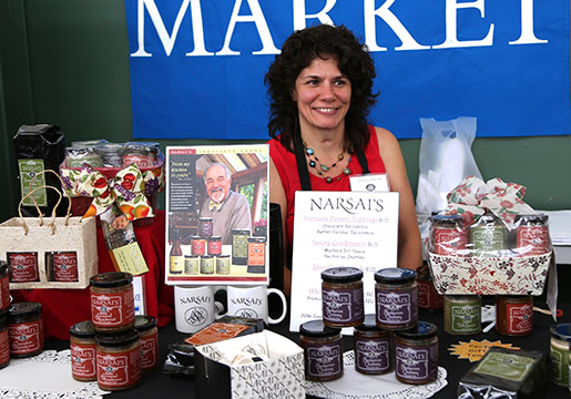 Artisan foods at the fair include Chef Narsai David's Chocolate Decadence as well as his savory sauces and chutneys. Photo courtesy of Karin Conn.
