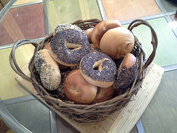 Learn to make great bagels like these at one of Laurie Leiber's workshops. Photo: Phil Rubin.