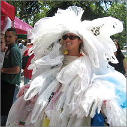 Meet the Plastic Bag Monster at Berkeley Farmers' Markets during the week of July 19.