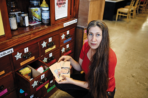 Rebecca Newburn has been a leader in promoting seed sharing and seed libraries.