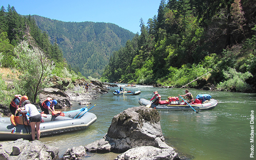 Treat yourself to the thrill of river rafting paired with outstanding wines and food.