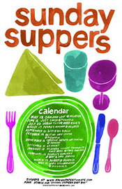 Sunday Suppers Calendar Poster