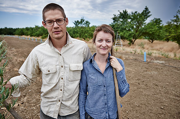 Mike Madison has taken on as partners the young East Bay couple in the photo above as presumptive successors to his farm. As Susan Ellsworth and Colin Dixon's skills develop, they will incrementally take over more of the farm as Madison gradually retires.