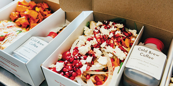 Town Kitchen's boxed lunches offer a choice of entrées plus a drink and dessert for $13.