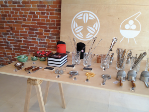 Japanese cocktail and barware, the shop's specialty, available for sale at Umami Mart. (Photo by Charlotte Peale)