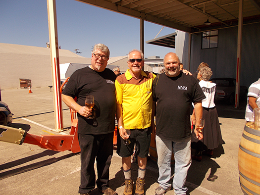Fred Dick (left) and Bob Rawson (right) celebrate Urbano Cellars' 10th year of winemaking.