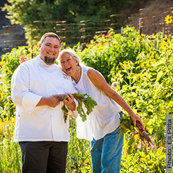 Wente-Garden_Diane-and-Chef-Mike-Ward