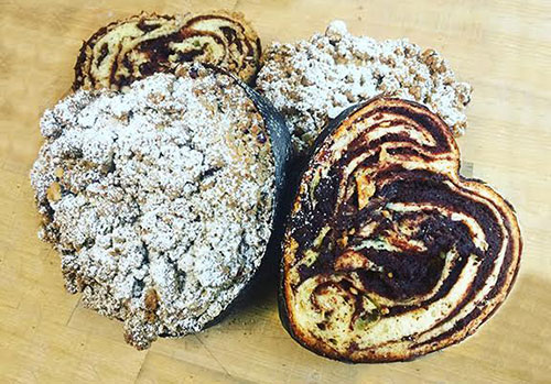 This small, heart-shaped Chocolate Babka from Fournée Bakery is just right for two.