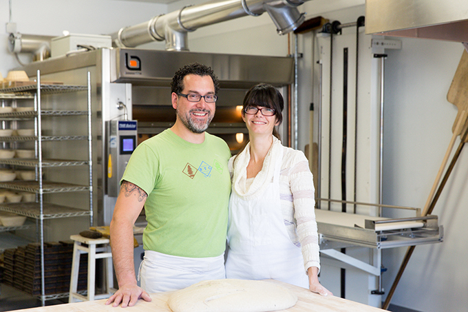 Eduardo Morrell and Tamsen Fynn in the new bakery