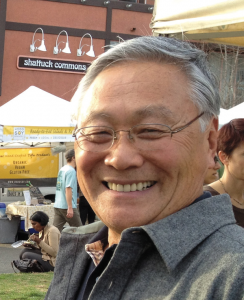 Bill Fujimoto at the Berkeley Farmers' Market (Photo by Lisa Brenneis, filmmaker of Eat at Bill's)