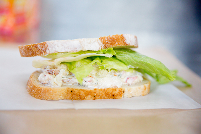 Bonita Fish Market's crab sandwich is popular at lunchtime.