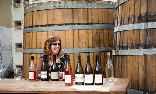 Berkeley's Donkey & Goat Winery welcomes guests to their tasting room and also offers a special November tasting of Thanksgiving wines. Photo: Jonathan Mandel