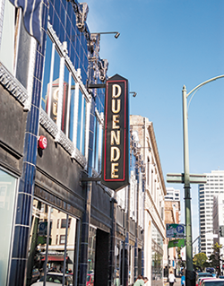 Duende found a home in the Art Deco gem known as the Floral Depot, across the street from The Fox Theater, another showy architectural jewel in Uptown.
