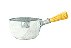 Yukihira pot: general use saucepan made of hammered aluminum