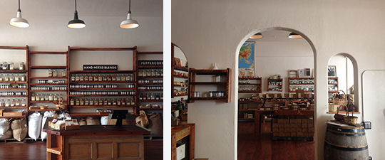 The new shop features separate sections for a spice market and a bazaar.  Photos courtesy of Oaktown Spice Shop.
