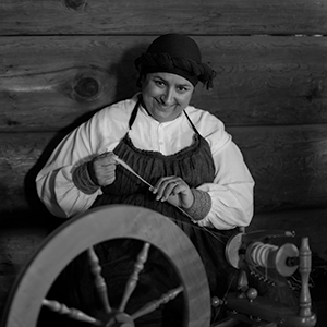Many historic farms around Northern California keep sheep and invite the public to learn about and interact with their flocks. In Fremont, California State Parks interpretive ranger Elise McFarland, a Livermore resident, is spinning wool from Ardenwood Historic Farm's flock into yarn. Check out the San Ramon Historic Farm for similar public events. (Photo courtesy of Patrick Wilkes)