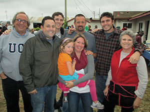 The Garrones comes together for a famliy picture at their open house and barbeque.