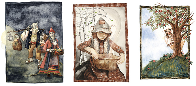 Illustrations by Karima Cammell grace the pages of In the Troll Kitchen.