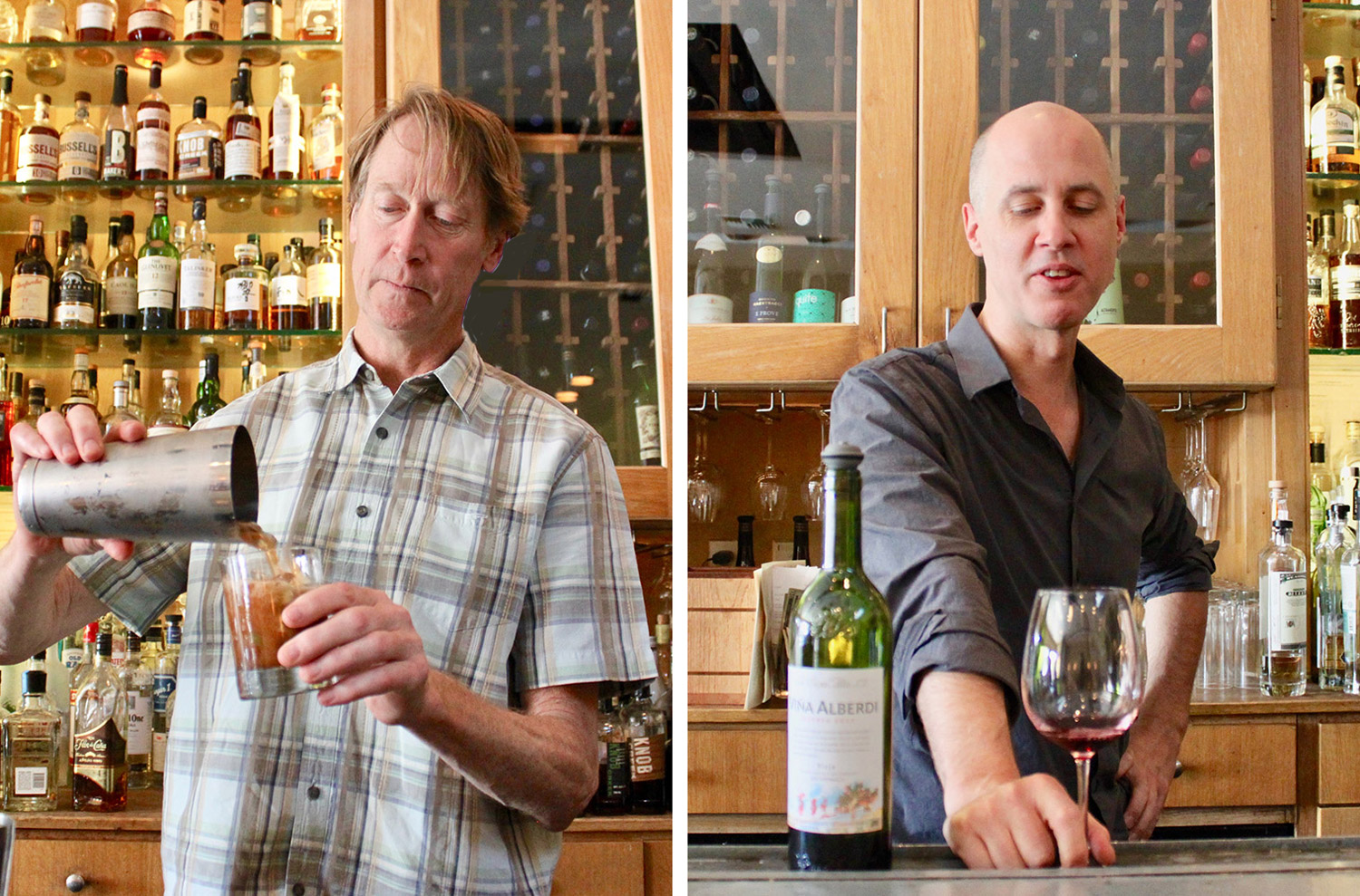 Left: Cameron McVeigh (general manager) Right: Bill Whiteley (head bartender)